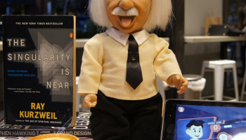Professor Einstein Robot Talks Science