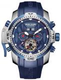 Reef Tiger Sport Watch Mens Blue Dial Steel Luminous Automatic Watch