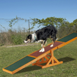Relaxdays Colourful Wooden Pet Seesaw for Big and Small Dogs