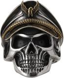 Silver Soldier Skull Ring