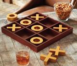 Solid Wood Tic-Tac-Toe Board Game