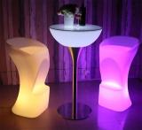 Stool Waterproof LED Light Feet Shaped Bar Stool