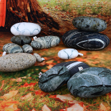 Three-Dimensional Curve Living Stones Floor Pillows