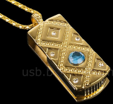 USB Jewel Classical Pendant Necklace Flash Drive
