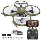 Wi-Fi Discovery Delta-Recon Quadcopter Drone Tactical Edition with 720p HD Camera
