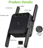 WiFi Range Extender Wireless Signal Repeater Booster