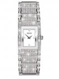 Women's rhodium swarovski crystal watch