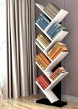 Wood Bookshelf Tree Storage