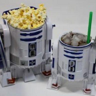 Disney Star Wars R2-D2 Plastic Popcorn Bucket & Drink Stein Set