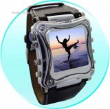 Metallic 1.5 Inch OLED MP4 Watch Player