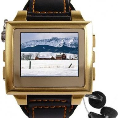 Gold MP4 Watch