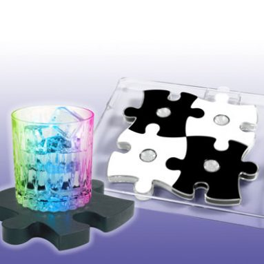 Light Show Coasters – B/W Puzzle
