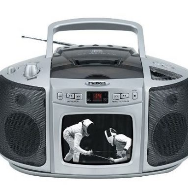 Portable TV Boombox