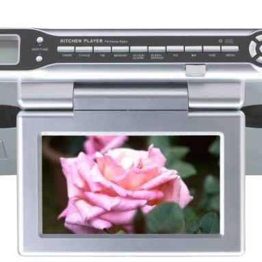 Under Counter 7-Inch TV/DVD/CD/Clock with Radio