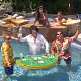 Floating Blackjack Table Pool Game