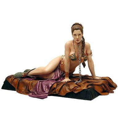 Star Wars Princess Leia as Jabba's Slave Statue