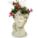 Garden Goddess Head Planter