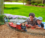 The Outdoor Building Block Electric Train