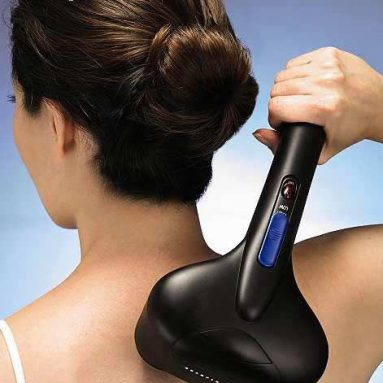Personal Percussion Massager with Heat & Gel Nodes