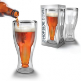 Hopside Down Double-wall Beer Glass