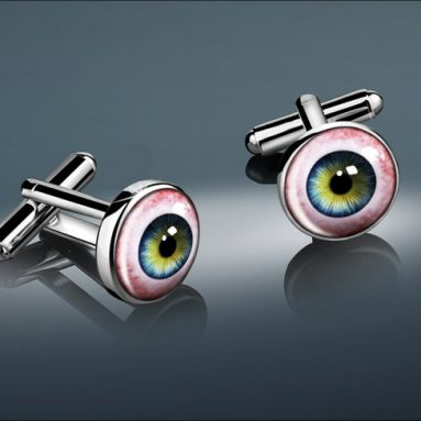 Human Eye Silver Cufflinks