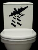 Bombs Away Toilet Wall