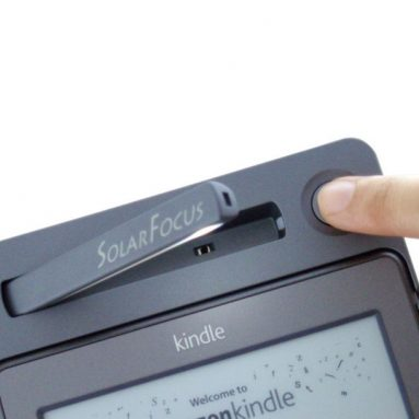 Solar leather lighted cover for Kindle 4