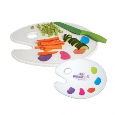 Creative Kitchen Palette Cutting Board and Serving Tray