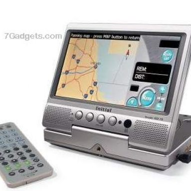 Portable Combination Navigation and DVD System
