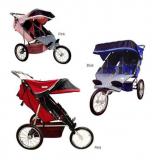BeBeLove USA Evolution Double Jogger Stroller