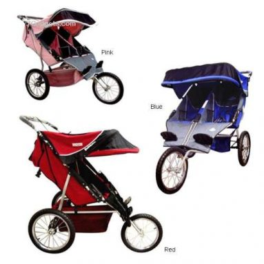 BeBeLove USA Evolution Double Jogger Stroller