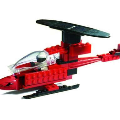 Lego Helicopter with solar rotor