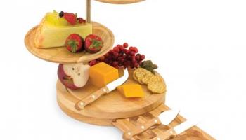 Picnic Time Regalio 10″ 3-Tier Serving Tray Cheese Board