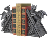 Gothic Castle Dragons Sculptural Bookends