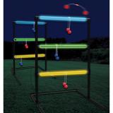 Glow Ladder Toss Game with Glow Sticks