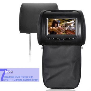 7 Inch Headrest DVD Player with DVB-T + Gaming System