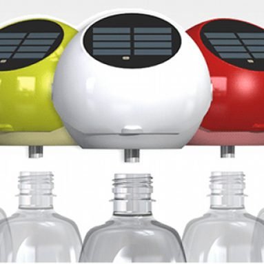 Plastic bottle LED light