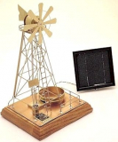 Solar Powered Executive Windmill Handcrafted