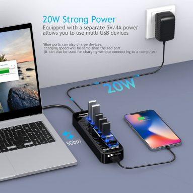 8 Port USB 3.0 Hub Splitter