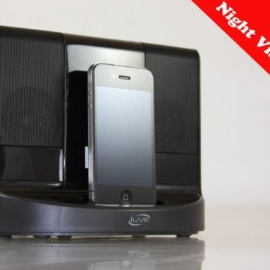 Night Vision iPhone & iPod Portable Speaker Dock Hidden Spy Camera