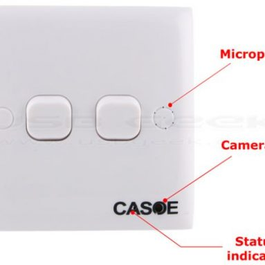 Motion Activated Wall Switch Spy Camera