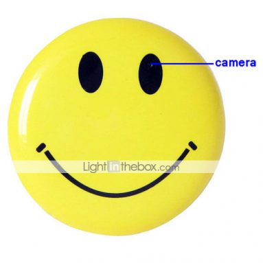 Brooch Smile Face Recorder/Hidden Camera