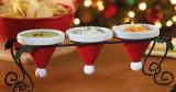 3 Part Santa Hat Shaped Serving Dish with Holder