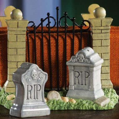 Halloween Gravestone S&p Shaker Set